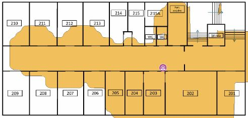 TamoGraph Site Survey - pokrycie terenu przez AP 2,4GHz AP02