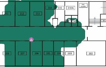 amoGraph Site Survey - pokrycie terenu przez AP 2,4GHz AP03