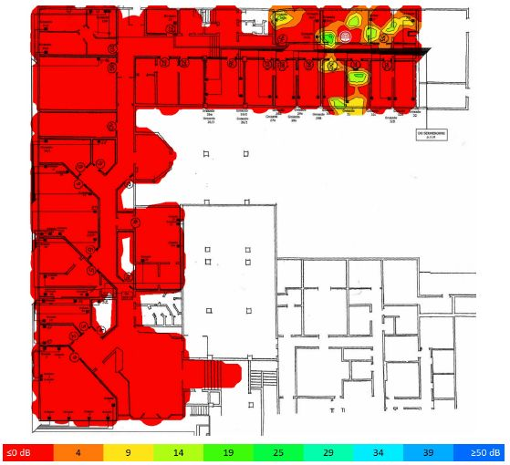 TamoGraph Site Survey stosunek sygnału do interferencji 5GHz AP09