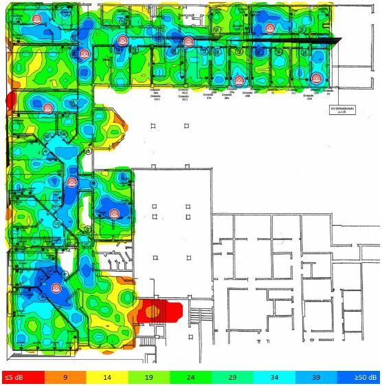 TamoGraph Site Survey stosunek sygnału do szumów 5GHz